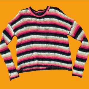 Forever 21 Striped Wooly Sweater